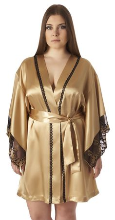 Belweiss satin robe