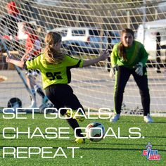 The spring soccer season is here! We hope everyone has a great season. Set Goals. Chase Goals. Repeat.