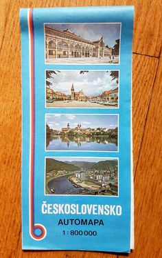 Vintage Czechoslovakia Road Map -- Československo Automapa -- Kartografie Praha…