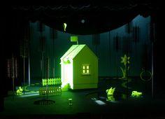 Lohengrin, Regie: Barrie Kosky, Bühnenbild und Licht: Klaus Grünberg, 2005