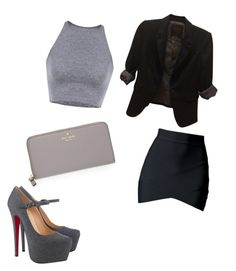"""""""Edgy"""" by annamariaofficial on Polyvore featuring The Limited, Christian Louboutin and Kate Spade"""