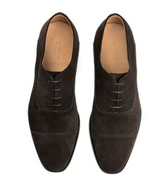 Joe Cap-Toe Oxford - Dark Brown Suede - Jack Erwin