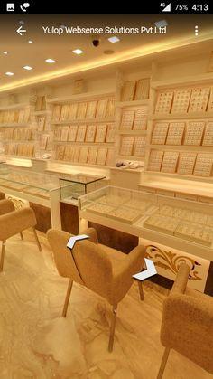 Showroom Jewelry Store Displays, Jewellery Shop Design, Jewellery Showroom, Jewelry Shop, Kitchen Cupboard Designs, Showroom Interior Design, Jewelry Showcases, Shop Front Design, Shop Interiors
