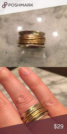Silpada sterling silver and brass ring Silpada ring in sterling silver and brass size 9 Silpada Jewelry Rings