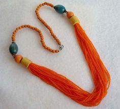 Vintage Beaded Retro Necklace by ThatsSoRetro on Etsy, $18.00