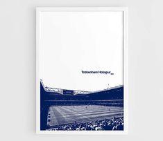 Tottenham Hotspur FC White Hart Lane Football Stadium Poster