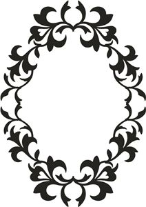 Silhouette Online Store: frame ornate oval