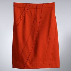 One of my favorite colors for fall, Simply Vera pieced ponte skirt $33.60 at Kohls