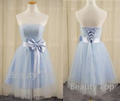 Prom Dress Tulle Bridesmaid Dress Short Prom Dresses by BeautyTop, $99.00