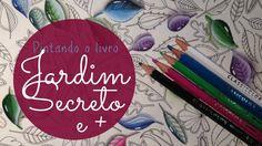 Jardim Secreto -  Secret Garden - Pedrinhas de vidro (usando lápis)