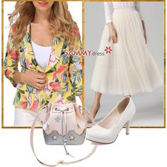 How To Wear Floral Blazer Outfit Idea 2017 - Fashion Trends Ready To Wear For Plus Size, Curvy Women Over 20, 30, 40, 50