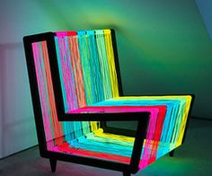 glowing chair