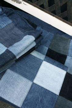 slip cover made out of recycled jeans perfect cover for