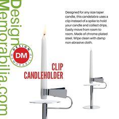 Clip Candleholder designed by Michele de Lucchi  // #DesignMemorabilia #Italy #kichen #kitchenware #home #homedecor #shop #gift #creative #design #candle #fire #MicheledeLucchi