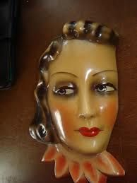 art deco wall masks - Google Search