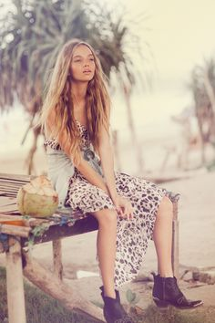 Inka Williams, www.spelldesigns.com, Cactus Rose, Spell and the Gypsy Collective, boho, Byron Bay, Australian Fashion, Wild Ones Dress, silk dress