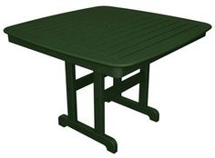 """Polywood NCT44GR Nautical 44"""" Dining Table Green Finish"""