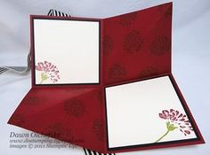 Tue Video: Amazing Fold Card (aka Squash Fold) w/Stampin' Up! Love & Care - DOstamping with Dawn, Stampin' Up! Card Making Templates, Card Making Tutorials, Card Making Techniques, Making Ideas, Fun Fold Cards, Pop Up Cards, Folded Cards, 3d Cards, Pop Up Karten