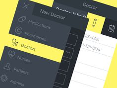 Hospice App Menu Styling by Jeffrey Smith for HQ