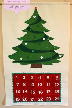 (9) Name: 'Sewing : Christmas Tree Advent Calendar Countdown