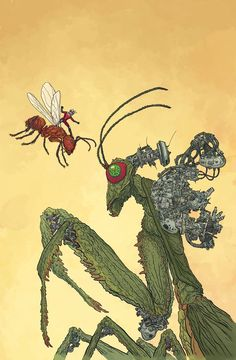 Ant-Man variant cover by Geof Darrow, colours by Dave Stewart *