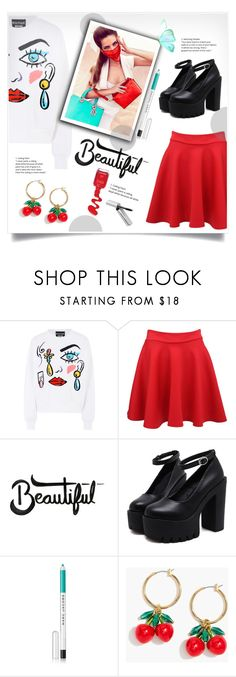 """""""modern style"""" by omniaasaad ❤ liked on Polyvore featuring Boutique Moschino, Pilot, Marc Jacobs, J.Crew, Bobbi Brown Cosmetics and modern"""