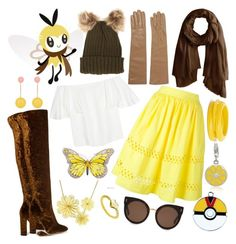 """Pokemon - Ribombee"" by dolliehawthornes ❤ liked on Polyvore featuring Aquazzura, Valentino, Chan Luu, Causse, Alice + Olivia, ZENZii, J.W. Anderson, Arabel Lebrusan, Eternally Haute and Gioelli"
