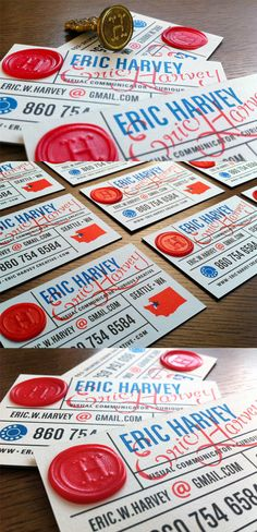 Fancy Business Cards On a Budget – Digital Print And Wax Seal