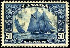 Fishing schooner Bluenose  Canada 1929