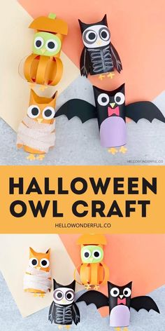 Halloween Arts And Crafts, Halloween Games For Kids, Diy Arts And Crafts, Cute Halloween, Toddler Art, Toddler Crafts, Preschool Crafts, Halloween Treat Boxes, Easy Halloween Decorations