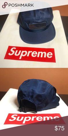 fe00a6f0 Supreme box logo patch cap FW18 Supreme box logo patch cap Navy Blue Supreme  Accessories Hats