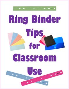Ring binders are good for many purposes in the classroom. You can use them for storing and organizing your lesson plans, classroom forms, posters, calendar pages, classroom centers, and you can even flip them into desk-top flip charts. #teaching #edu #classroom