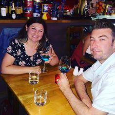 Enjoy a glass of beautiful Azul Mediterraneo Chardonnay wine @cafe_mariana 🇮🇹❤️👏🏼🍷 #Azul #blue #bluewine #vino #spain #spain🇪🇸 #natural #chardonnayallday #chardonnay #chardonnayday #azulmediterraneo