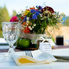 Rustic Reception Place Setting