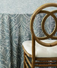 Cool blue prints on linen are perfect for spring!
