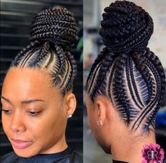 Beautiful braids if you want to see more click in the link and watch all my videos 😍💞 Braided Cornrow Hairstyles, Feed In Braids Hairstyles, Braids Hairstyles Pictures, Braided Hairstyles For Black Women, African Hairstyles, Hair Pictures, Black Hair Braid Hairstyles, Feed In Braids Ponytail, Box Braids Bun