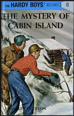 The Hardy Boys, The Mystery of Cabin Island, by Franklin W. Dixon, 1960 version.