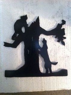 Heres Freds COON HUNTING metal cutout he made its about 8 inches tall $25