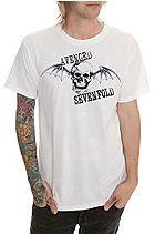 Avenged Sevenfold Death Bat White Slim-Fit T-Shirt Sku 902443