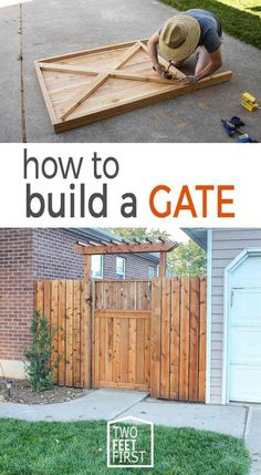 Building A Deck 533535887103446490 - Do you have a fence with a gate? And that gate is looking sad? Well here is the prefect solution on how to build a gate. Building A Wooden Gate, Wooden Fence Gate, Fence Doors, Diy Fence, Fence Ideas, Fence Gates, Diy Gate, Building A Fence Gate, Pergola Ideas