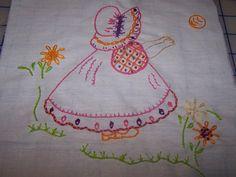 embroidered sun bonnet sue - Google Search