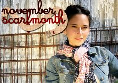 November is DIY scarf month on Grosgrain!