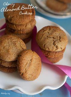 Chewy Almond Butter Cookies (Gluten Free, Vegan, 5 Ingredients!)