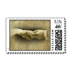 With this Ring, Romantic #Vintage Wedding Love #Postage Stamp