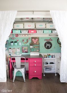 craft room makeovers Craft Closet Makeover - Time to DIY
