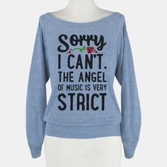 Hahaha, I want this. If someone invites you to something that you honestly don't want to go to, you could just gesture to your shirt. xD