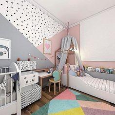 Baby Boy Room Decor, Baby Bedroom, Baby Boy Rooms, Girls Bedroom, Bedroom Decor, Boy And Girl Shared Room, Girl Room, Bedroom Wall Designs, Kids Room Paint