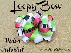 Loopy Hair Bow Bowdabra Tutorial - Easy step by step instructions