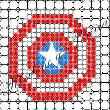 Projeto painel com balões - Escudo do Capitão América
