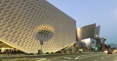 The Broad Museum and Walt Disney Concert Hall in downtown Los Angeles, October 2015